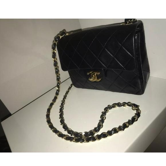 18d29a48f80e CHANEL Bags | Sold Black Lambskin 24k Mini Crossbody | Poshmark